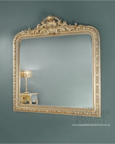 Mawley Overmantle Mirror With Silver Ornate Frame