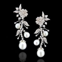 Ruth Grieco Oficial #pearls #diamonds #earrings Via #mm_mucevhermagazin