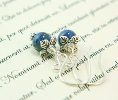 Mini Blueberry Earrings  Lapis and Sterling by NatureInspires, $23.00