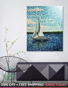 «Sailing With Olivia 5 Image, Impressionism, Insta Art, Home Art, Sailing, Artsy, Things To Come, Tapestry, Wall Art