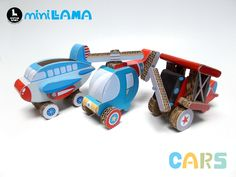 Amazing handmade cardboard car toys!