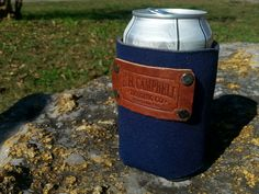 Koozie with Leather Stamp