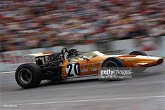 Italian driver Andrea de Adamich during practice at the 1970 Hockenheim GP in his McLaren M14D which competed at 6 GPs in this particular event not...