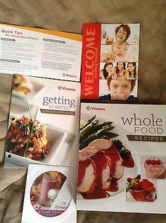 VITAMIX WHOLE FOOD RECIPES BINDER COOK BOOK DVD GETTING STARTED GUIDE COOKBOOK