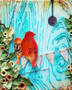 July canvas create- Fabulous piece by Donna