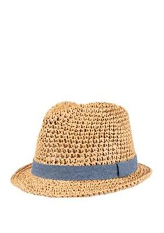 Crown & Ivy™ Packable Wide Weave Fedora With Chambray Band. Finished with a chambray band, this packable wide weave Panama-inspired fedora hat from Crown & Ivy™ will be an essential for sunny days on the horizon. Stetson Fedora, Fedora Hat, Fedoras, Summer Hats, Hats For Men, Caps Hats, Chambray, Panama Hat, Sunnies