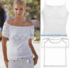 Moda e Dicas de Costura: RECICLAGEM DE T-SHIRTS - 1