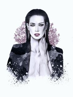 #illustration #fashionillustration #fashionportrait #portraitdrawing #illustrator #fashionillustrator #art #fashionart #fashionblogger #purple #jacket