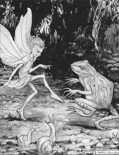 "Helen Jacobs (1888-1970), ""The Frog and the fairy"""