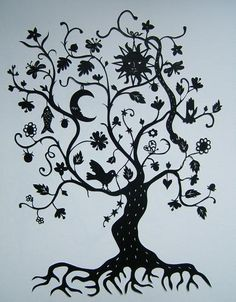 L'arbre de vie - Papiers découpés de Stéphanie Miguet