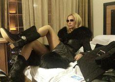 Chanel boots. Model: Ana Radu