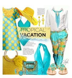 """Tropical Vacation 3"" by olga1402 ❤ liked on Polyvore featuring D&G, Martha Medeiros, Jack Rogers, Burberry, Ultràchic, Sylvia Toledano, Gemma Simone, Lydell NYC, Prada and TropicalVacation"