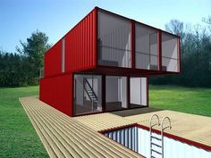 """Back in July, LOT-EK announced their Container Home Kit, a prefab, do-it-yourself assembly unit that """"combines multiple shipping containers to build modern, intelligent and affordable homes. …"""