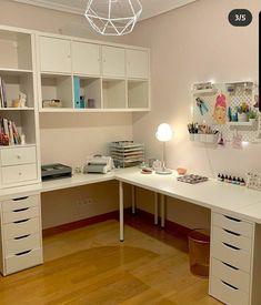 Sewing Room Design, Craft Room Design, Room Design Bedroom, Room Ideas Bedroom, Home Room Design, Home Office Design, Home Office Decor, Bedroom Decor, Office Desk