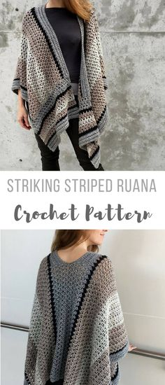 how gorgeous is this Kathy?? you should so make this for Renee or maybe me hint hint lol...seriously i've been looking for a nice crochet poncho sweater shawl wrap type pattern perfect for that in between type of weater #crochetwrappattern #crochetshawlpattern #crochetsweaterpattern #affiliate #crochetponchopattern