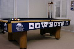 Dallas Cowboys Pool Table!