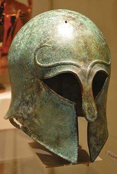 Corinthian style helmet, 600-575 B.C. Metropolitan museum of art