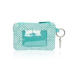 Turquoise Graphic Weave - Mini Coin Purse - Thirty-One Gifts