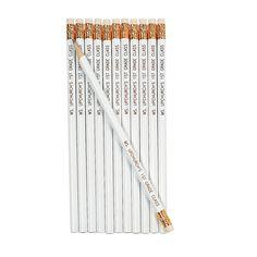 $7.50/24 White Personalized Pencils - OrientalTrading.com