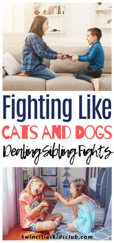 Twin Cities Kids Club Blogs: Fighting Like Cats and Dogs: Dealing With Sibling Fights - Whoever said that it was easier to raise two children than one probably didn't have any kids at all. Raising kids is hard work at the best of times, but when you're dealing with sibling fights, that's something else. #parenting #coparenting #parentingtips #parentinghacks #parenting101 #parentinghumor Activities For 2 Year Olds, Indoor Activities, Infant Activities, Step Parenting, Parenting Humor, Parenting Hacks, Sibling Fighting, Coparenting, Educational Crafts