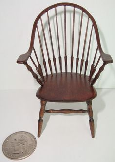 """William """"Bill"""" Clinger - Walnut Continuous Arm Windsor Chair, sold for $325 on ebay"""