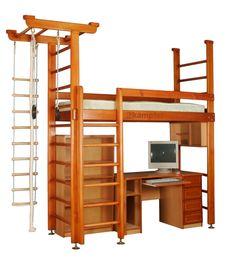 Купить кровать-чердак и чердак и Диван-кровать 2-х ярусные