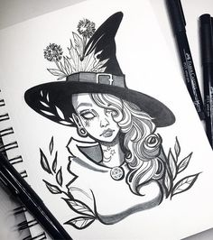 Check out my latest video now up on YouTube! Link to my channel is on my bio. I hope you guys enjoy it! ✨ graphicartery #ink #witch #art #artist #drawing #tattoo #tattoos #artcollective #myart #inktober2016 #draw #linework #instaart #artoftheday #sketch #sketchbook #inktober