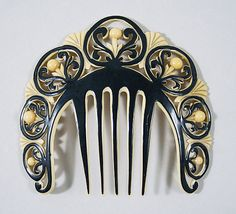 Art Deco celluloid comb, American, c. 1925. Source: www.metmuseum.org