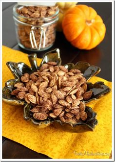 Good but spicy was better-CINNAMON SUGAR PUMPKIN SEEDS 2 cups raw pumpkin seeds 2 tablespoons butter, melted cup white sugar 1 tablespoon ground cinnamon Cinnamon Sugar Pumpkin Seeds, Raw Pumpkin Seeds, Pumpkin Seed Recipes, Pumpkin Spice, Cinnamon Desserts, Pumpkin Soup, Fall Recipes, Holiday Recipes, Snack Recipes
