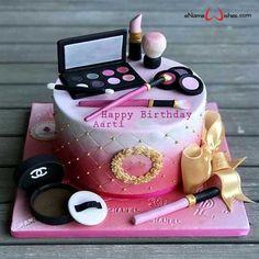Happy Birthday Kuchen, Birthday Wishes Cake, Cute Birthday Cakes, Beautiful Birthday Cakes, Birthday Name, Beautiful Cakes, Amazing Cakes, Happy Birthday Cake Girl, Birthday Cakes Girls Kids