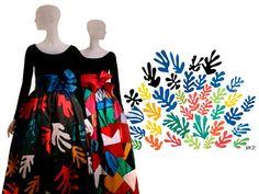 Yves Saint-Laurent, 1980; QUADRO: La gerbe, Henri Matisse, 1953.