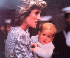 Diana, Princess of Wales and little Prince Harry ♦ 1985