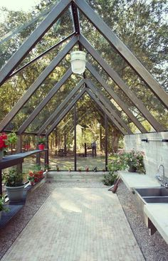 Garden room envy, a place to gather bringing nature indoors country garden-house design Wood Be Loved