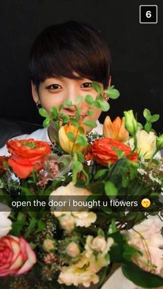 BTS Jungkook imagines snap chat. Aww he is so sweet. Lol