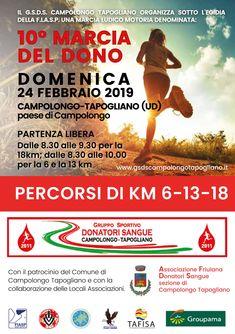 Marcia del Dono 2019 - 10a edizione si svolgerà il giorno 24/02/2019 a Campolongo Tapogliano (Ud) sulla distanza di 18Km, 13Km e 6Km. #corriqui Movie Posters, Film Poster, Billboard, Film Posters