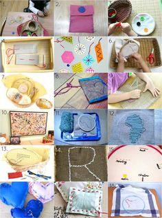 Montessori Sewing Ideas - Toddler to Preschooler at How we Montessori Montessori Homeschool, Montessori Practical Life, Montessori Elementary, Montessori Classroom, Montessori Toddler, Montessori Activities, Montessori Kindergarten, Baby Activities, Maria Montessori
