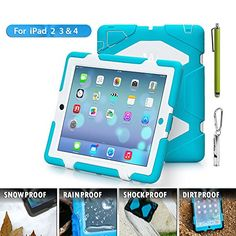 Travellor® New Hot Item Ipad 2/3/4 Case Silicone Plastic Dual Protective Back Cover Kid Proof Extreme Duty Case Standing Case for Ipad,ipad 4,ipad 3,ipad 2 Rainproof Sandproof Dirtproof Shockproof- Multiple Color Options (Light Blue/White) TRAVELLOR http://www.amazon.com/dp/B00O1GX3VW/ref=cm_sw_r_pi_dp_Q1rAub0NMN3MY 28
