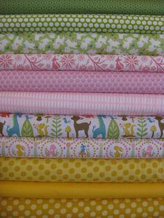 Fabricworm Custom Bundle, Budding Woods in FAT QUARTERS 11 Total