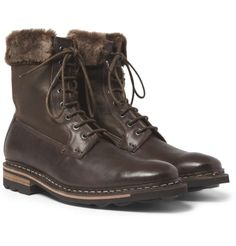 heschung Zermatt Shearling-Lined Leather Boots #mens #shearling-lined #leather #boots #wantering #menswear #mensstyle #love