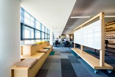 SGS Offices – Hull. Creative zone. Pin up area. Seating steps. Agile working.