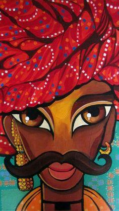 Rajasthani Painting, Rajasthani Art, Madhubani Art, Madhubani Painting, Indian Art Paintings, Abstract Paintings, Oil Paintings, Easy Paintings, Landscape Paintings
