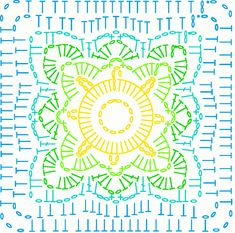 Amanda's Crochet Blanket Adventures : How to read my patterns