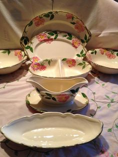 Your place to buy and sell all things handmade Vintage Dishes, Vintage Kitchen, Desert Rose Dishes, Franciscan Ware, Shabby Chic Theme, Green China, Relish Trays, China Patterns, Vintage Stuff