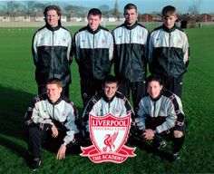 1998: Lucky Seven. The Liverpool boys done good…Click here to buy this print from the official Liverpool FC Picture Store