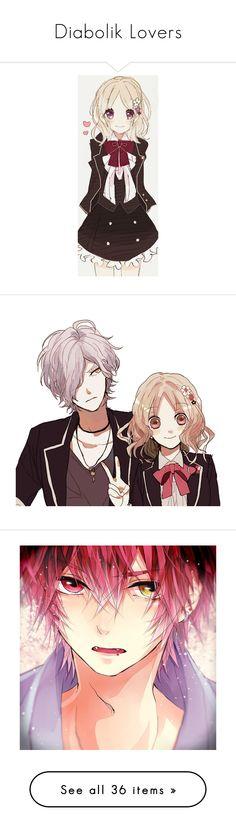 """Diabolik Lovers"" by vixslife ❤ liked on Polyvore featuring anime, anime girl, manga, people, art, diabolik lovers, drawings, anime boy, anime guy and render"