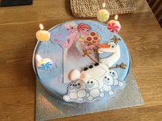 Birthday Candles, Birthday Cake, Disney Olaf, Desserts, Food, Tailgate Desserts, Deserts, Birthday Cakes, Essen
