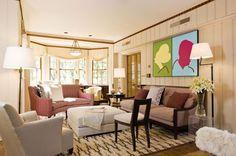 walls and trim: oxford stone, ceiling: dimity Farrow And Ball Paint, Farrow Ball, English Tudor Homes, Home Design Magazines, Tudor House, Interior Design Living Room, Valance Curtains, Paint Colors, New Homes