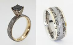 Ever heard of wedding rings made out of dinosaur bones? (We hadn't either!) Jeweler Johan Rust of Jewelry by Johan has taken antique to a wh
