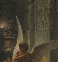 Fortunino Matania - Cupid and Psyche Aesthetic Art, Aesthetic Pictures, Rennaissance Art, Renaissance Paintings, Art Hoe, Old Paintings, Classical Art, Old Art, Pretty Art