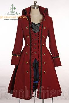 Well let's see, I already have a red cloak in my imaginary wardrobe, so this would need to be black. Mmm, pirate fashion. <3 the Colonial era.